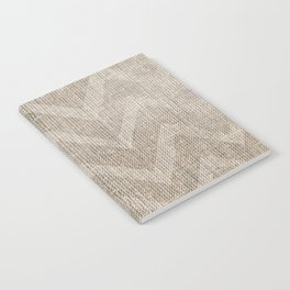 Chevron burlap (Hessian series 1 of 3) Notebook