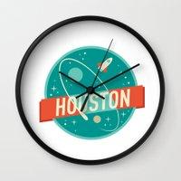 houston Wall Clocks featuring HOUSTON by Fedi