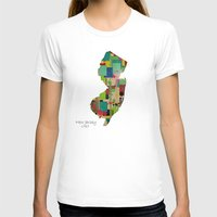 new jersey T-shirts featuring New Jersey state map by bri.buckley
