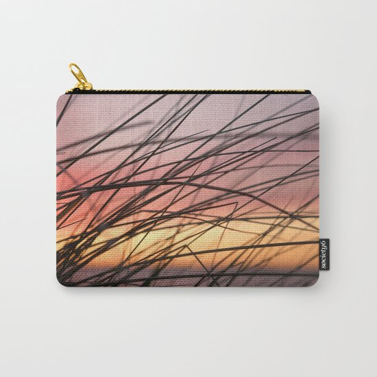 Grasses in the rainbow light of sunset Carry-All Pouch
