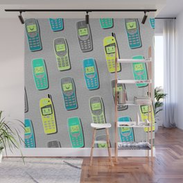 Vintage Cellphone Pattern Wall Mural