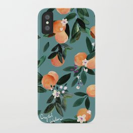 Dear Clementine - oranges teal by Crystal Walen iPhone Case