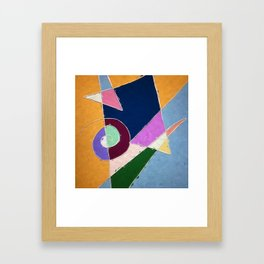 abstract window to space Framed Art Print