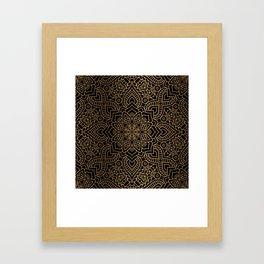 Black Gold Mandala Framed Art Print