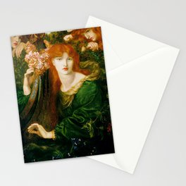 Rossetti, Dante Gabriel - La Ghirlandata-old paiting Stationery Cards