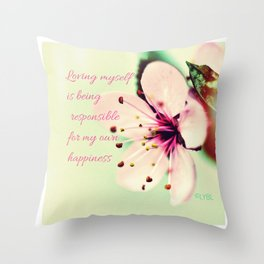 Love Yourself My Happiness Throw Pillow