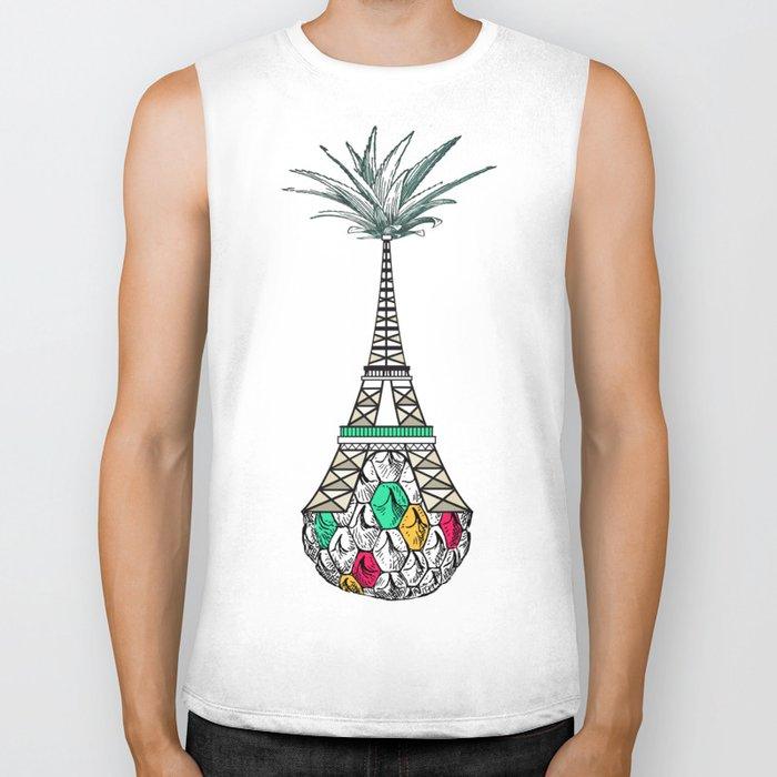 Pineapple architecture 4 : Eiffel Tower Biker Tank