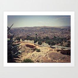 Fez - the ancient city. Original photograph. Art Print