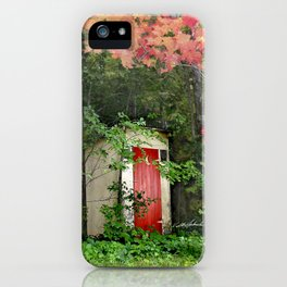 The Red Outhouse Door iPhone Case
