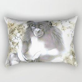 fascinating altered animals - Bonobo Rectangular Pillow