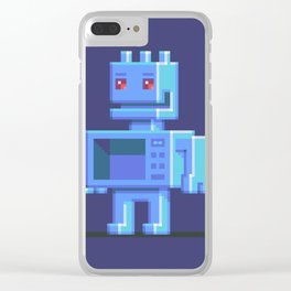 Magnetron pixel robot Clear iPhone Case