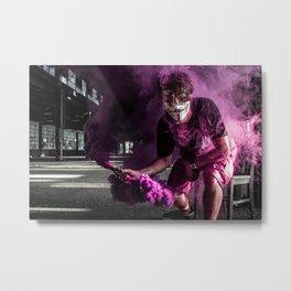Guy Fawkes Smoke Bomb Metal Print