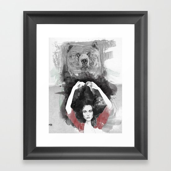 Bear Delux Framed Art Print