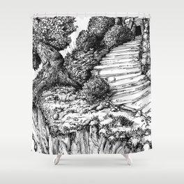 Ancient Tree III Shower Curtain