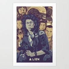 ALIEN v2 Art Print