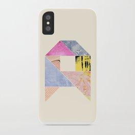 Collaged Tangram Alphabet - A iPhone Case