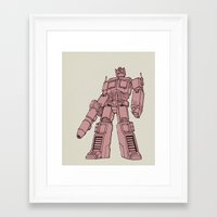 optimus prime Framed Art Prints featuring Optimus Prime by Luke Spicer Illustration