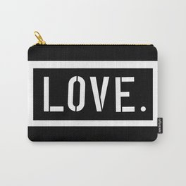 Love Stencil Carry-All Pouch