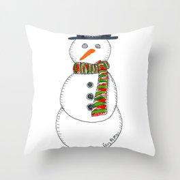 Snow Sir Throw Pillow