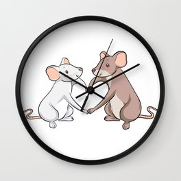 Rat Love Heart Cool Rats King Mouse Gift Wall Clock
