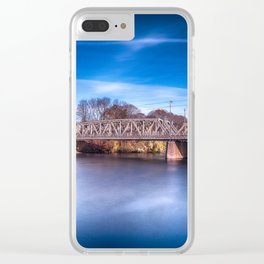 The rail bridge Clear iPhone Case