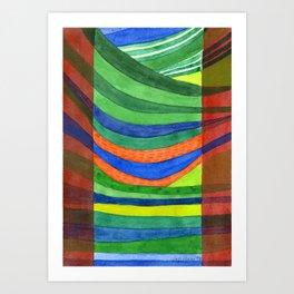 Landscape Hammock Art Print