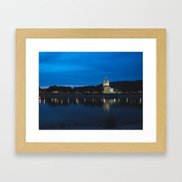 Charleston West Virginia Capitol at Blue Hour Framed Art Print