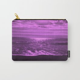 Bright Reflections Seascape in Violet Carry-All Pouch