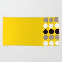 Abacus - Retro Dots On Yellow Background #decor #society6 #buyart Beach Towel