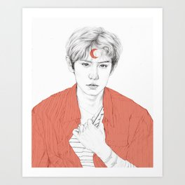 Chanyeol Art Print