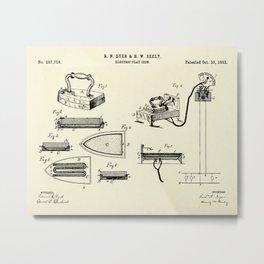 Electric Flat Iron-1883 Metal Print