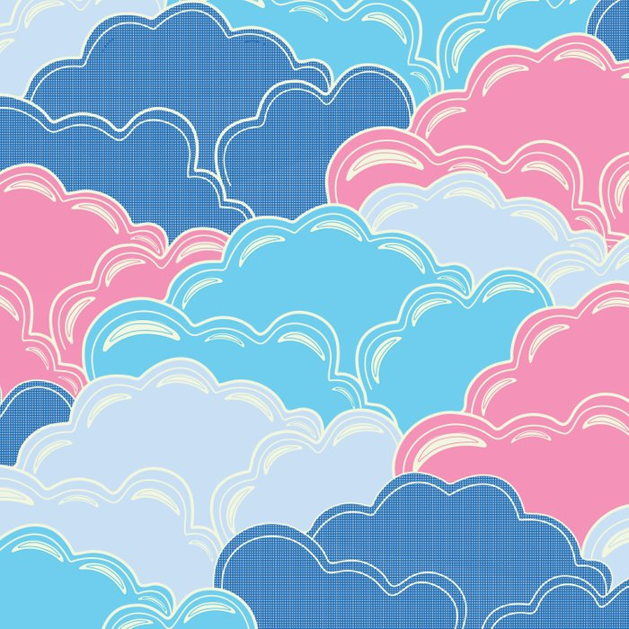 Pillows in the Sky (Clouds no.2) Duvet Cover