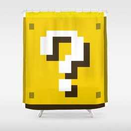 New Question Block Shower Curtain