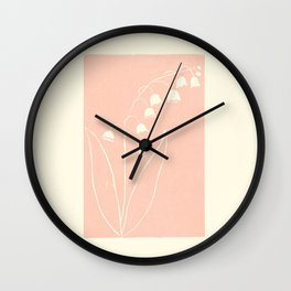 Lily of the Valley in Pink Wall Clock
