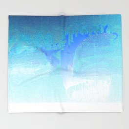 Faded in Frost - Digital Grunge Abstract Throw Blanket