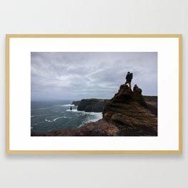 The Cliffs of Moher, Ireland Part 2 Framed Art Print
