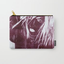 Crow Girl - Burgundy Carry-All Pouch