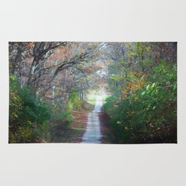 Country Road In The Fall Rug