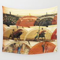 spanish Wall Tapestries featuring Spanish Scratched Fans by Deprofundis