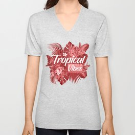 Tropical Vibes Unisex V-Neck