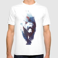 Death run White LARGE Mens Fitted Tee