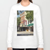 cafe Long Sleeve T-shirts featuring City Cafe by Yellow Tie