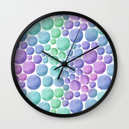 Bright polka dots. Wall Clock