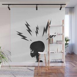 Brain Zaps - White Wall Mural