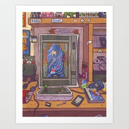 Into Darkness Art Print
