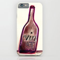 """Vin - A Bottle of Wine That Says """"Wine"""" (& Painted with Wine) iPhone 6s Slim Case"""