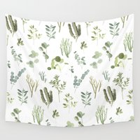 plants Wall Tapestries featuring Plants  by Maggie Chiang