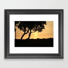 Kona Sunset Framed Art Print