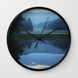 Sunset in the Great Smoky Mountains Wall Clock