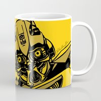 transformers Mugs featuring Transformers: Bumblebee by Skullmuffins
